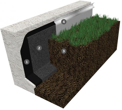 Monocouche thermosoudable pour étanchéité de parois enterrées sans protection