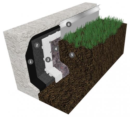 Monocouche thermosoudable pour étanchéité de parois enterrées avec protection