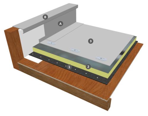 Membrane PVC-P fixée mécaniquement