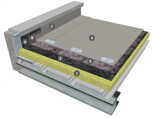 Membrane PVC-P fixée mécaniquement sur ancienne étanchéité bitumineuse