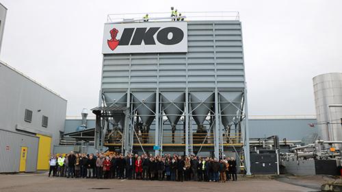 Inauguration usine IKO à Tourville