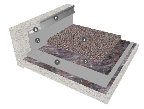 Membrane PVC-P en indépendance sous protection gravillon