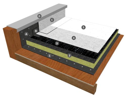 Procédé IKO DUO REFLECT thermosoudable  avec isolation sur élément porteur bois